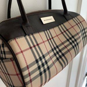 Burberry canvas shoulder bag